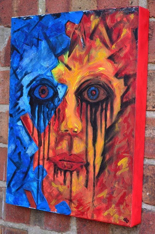 Face From Nightmare - Painting On Deep Gallery Stretched Canvas - Image 0