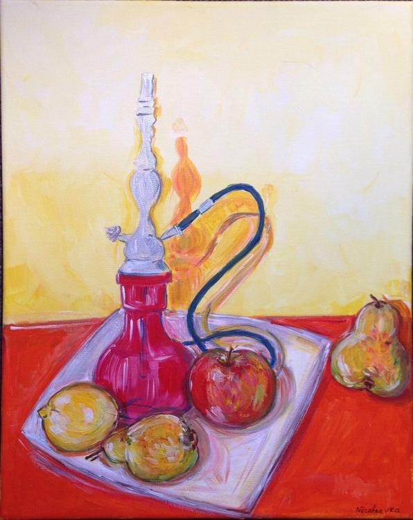 Still Life with Shisha and Fruit - Image 0