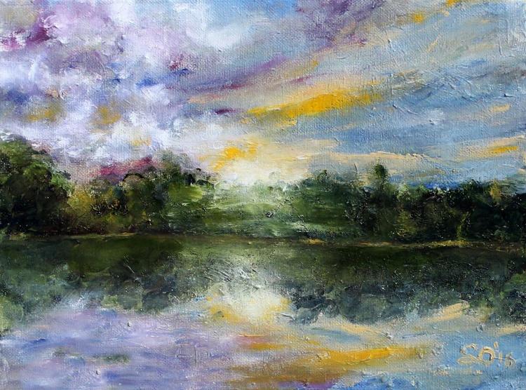 """Florida Sunrise 9""""x12"""" (22.86x30.48cm) - Image 0"""