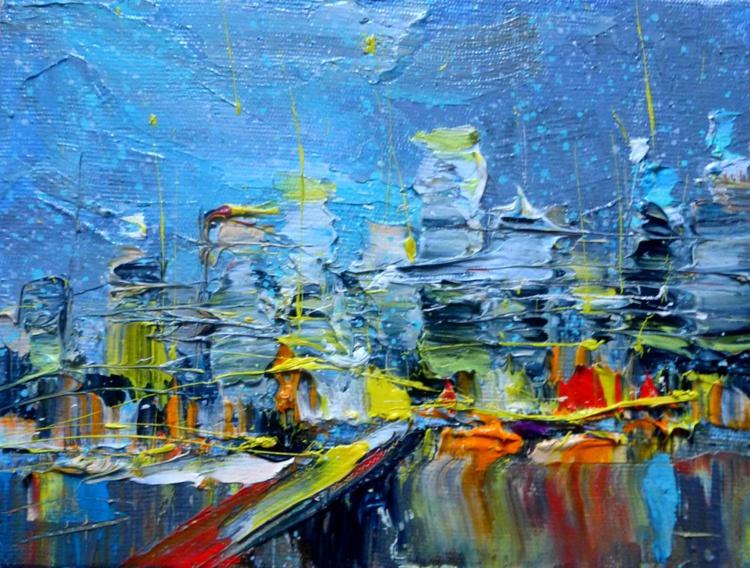 Cityscape, mini art 20x15 cm - Image 0