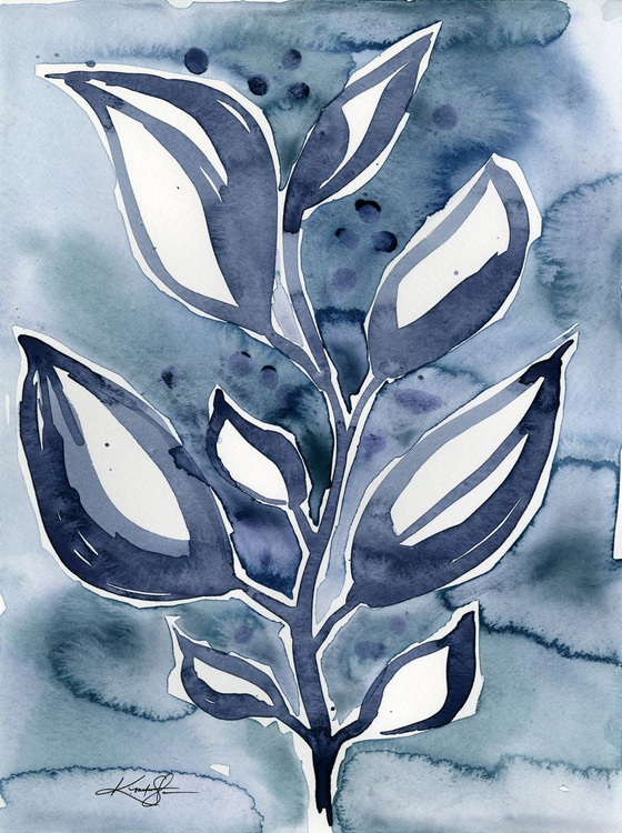 Botanical Joy No. 14 - Watercolor Painting - Image 0