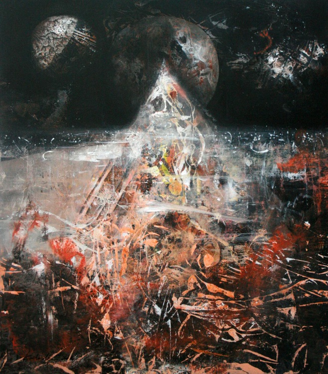 COSMIC DELIRIOUS ONIRIC LANDSCAPE PYRAMIDE BY KLOSKA Beyond the inside series, composition 3 , signed november 2014 - Image 0