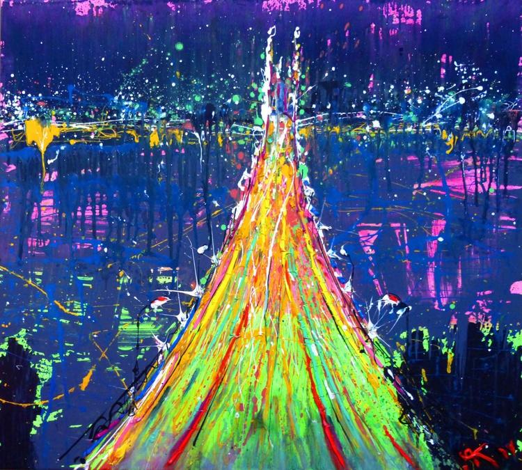 bridge.original oil painting on canvas. 105x95 cm. ready to hang - Image 0