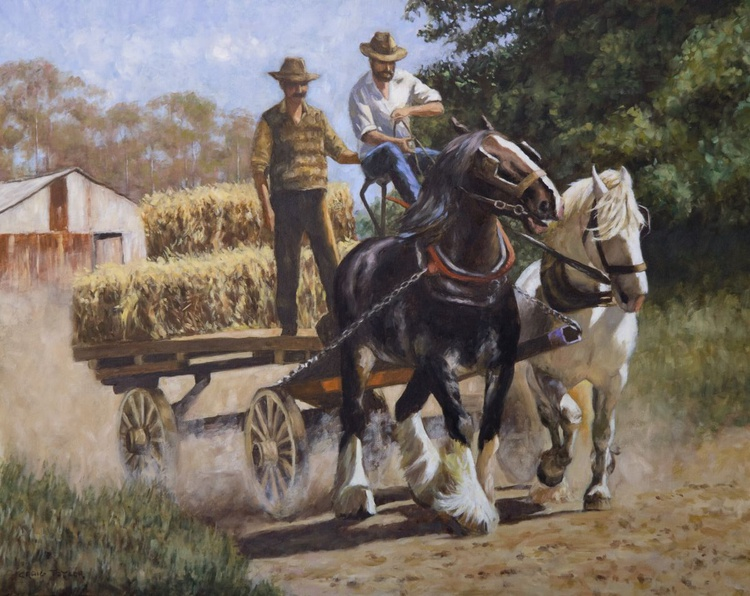 The Old Hay Wagon - Image 0