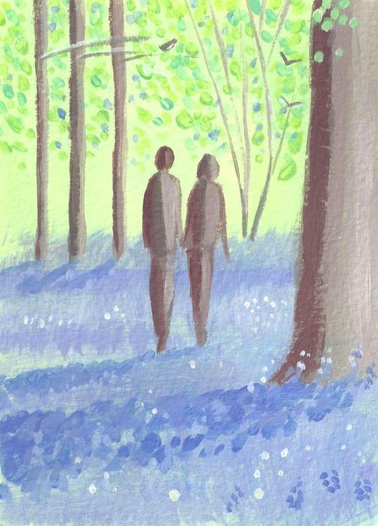Bluebell walk postcard - Image 0