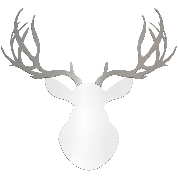 Regal Buck | Large White & Silver Deer Cut-Out - Image 0