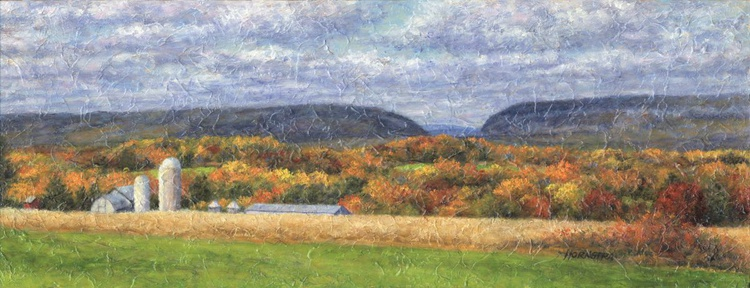Autumn Near the Gap with Gray Barns - Image 0