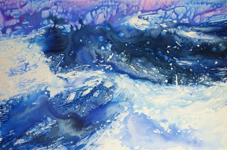 Breath of the Sea, large painting 150x100 cm - Image 0