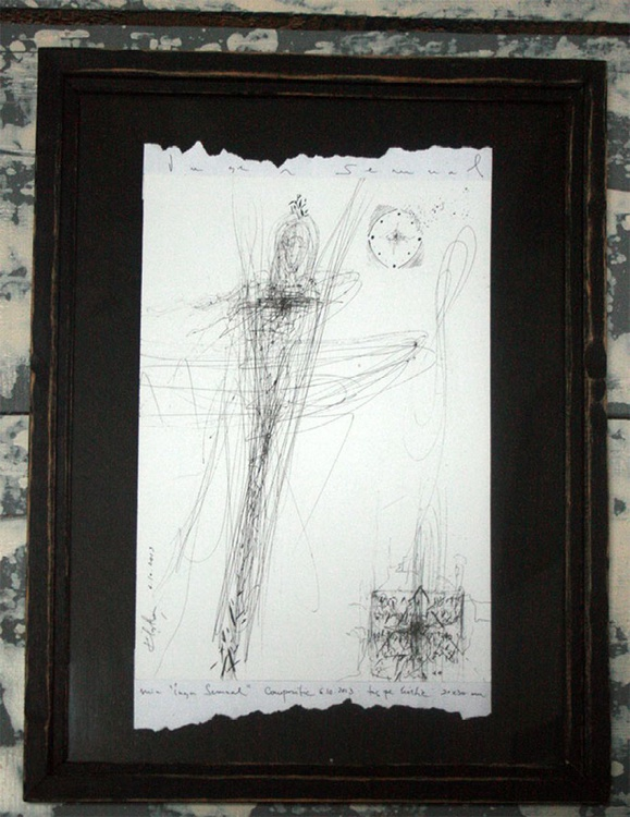 SPONTANEOUS LINES DRAWING SIGNED BY ROMANIAN MASTER OVIDIU KLOSKA - Image 0