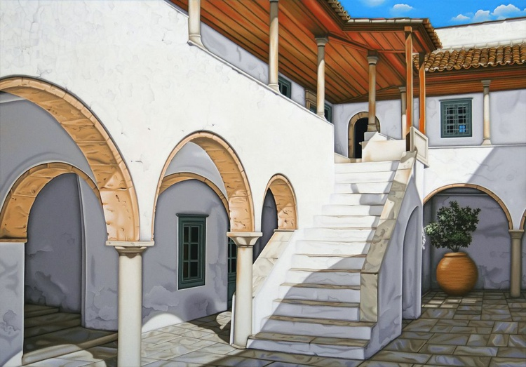 Courtyard with Steps - Image 0