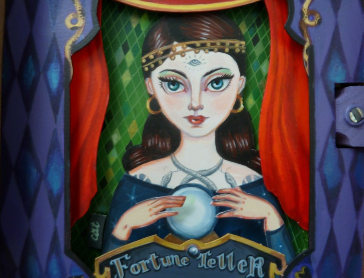 """""""The Fortune Teller""""- Diorama/Shadow Box - Image 0"""