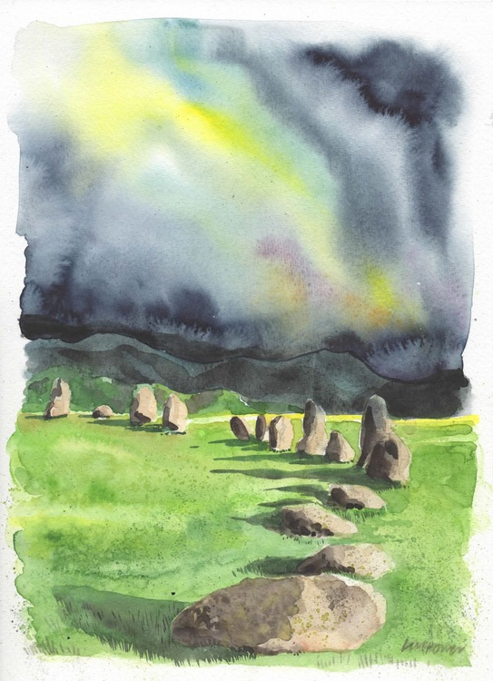 Stormy skies over Castlerigg stone circle - Image 0