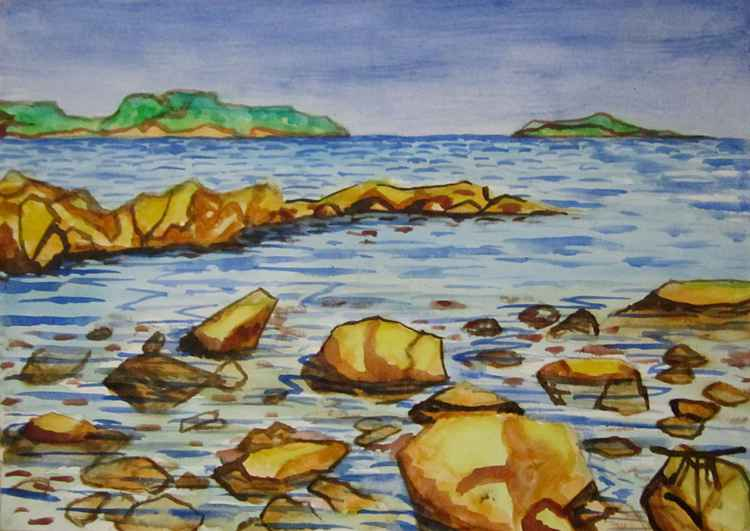 Rocks and Sea -