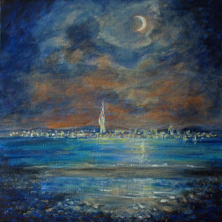Sea city by Moonlight - Image 0