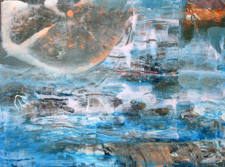 SUPERBE ONIRIC SEA FANTASY DREAMSCAPE THE LAST MORNING OF A SEA SNAIL BY OVIDIU KLOSKA - Image 0