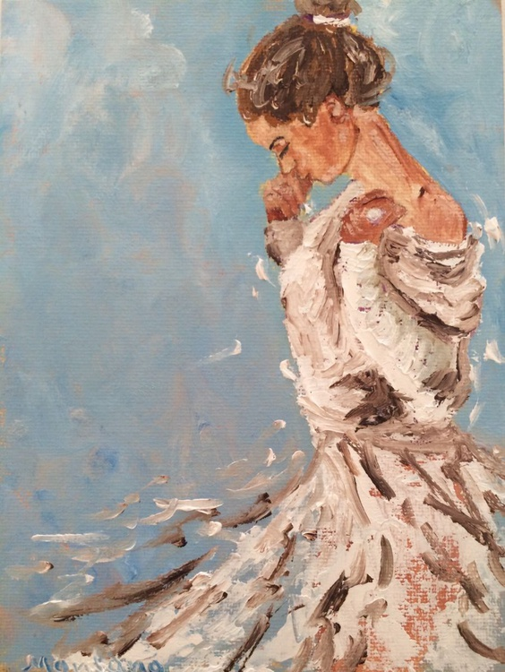 Girl in a white dress - Image 0