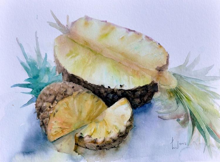 PINEAPPLES original watercolor - Image 0