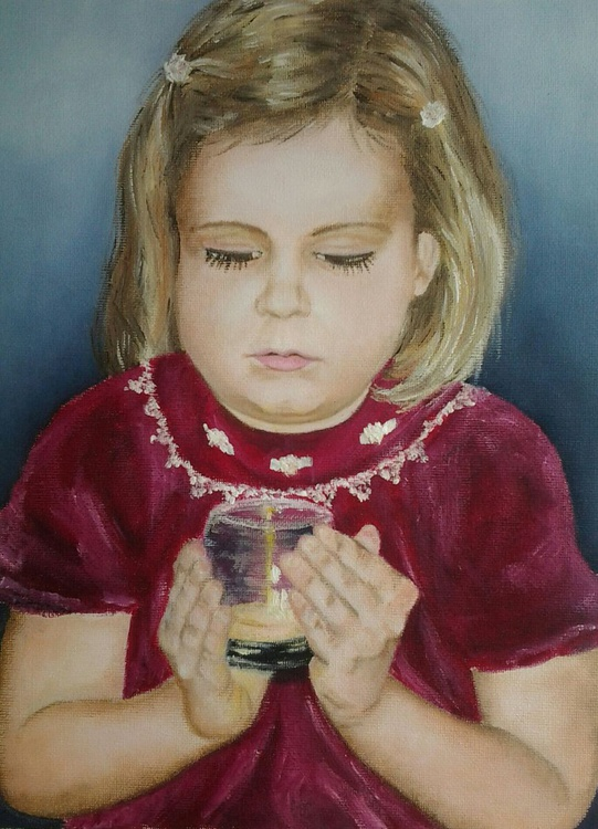 """""""THIS LITTLE LIGHT OF MINE"""", oil painting - Image 0"""