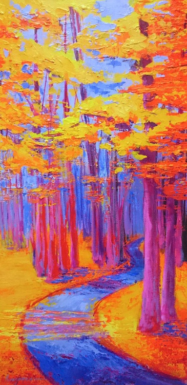 Magical Path - Enchanted Forest Collection - Landscape Painting - Image 0