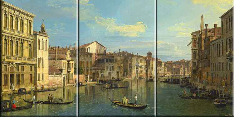 A Triptych Contemporary Canaletto  -