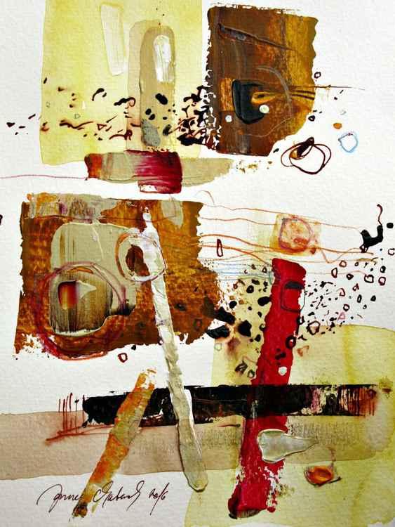 sepia abstract original acrylic painting