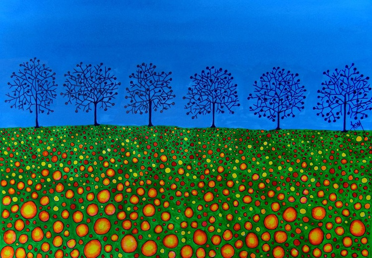 Trees With Flowers - Image 0
