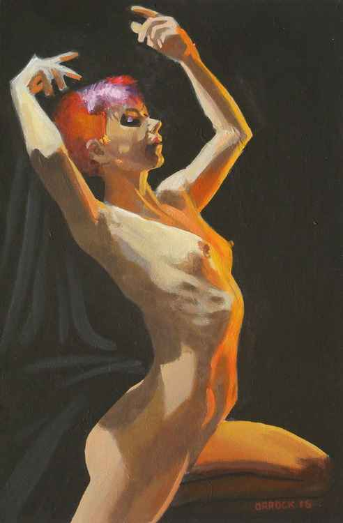 Strong dynamic nude -