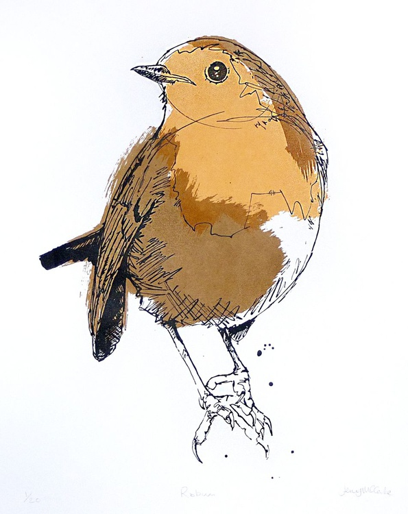 Robin screenprint - Image 0