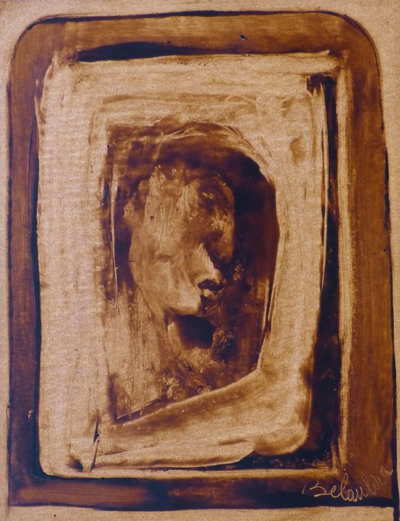Face in the Window, 65x50 - Image 0