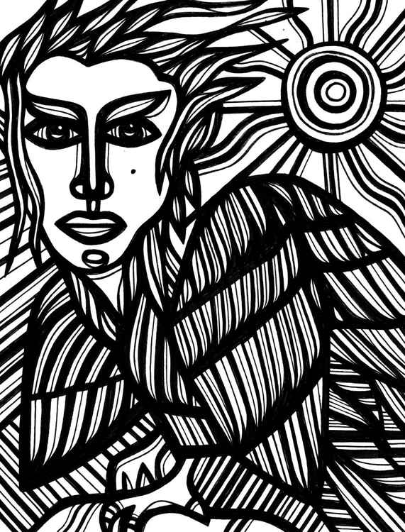 Egyptian Angel Mystic Original Drawing