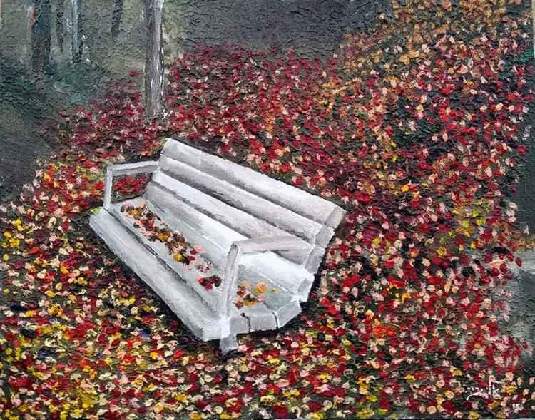 Autum solitude and the foliage, -