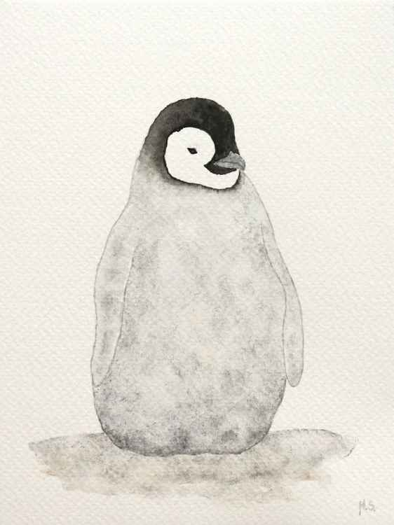 The emperor penguin chick