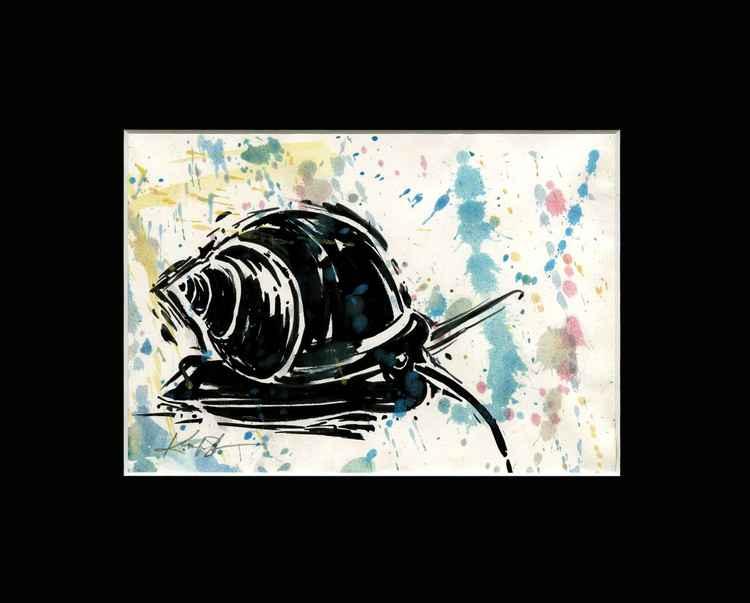 Snail - Abstract Illustration Painting -