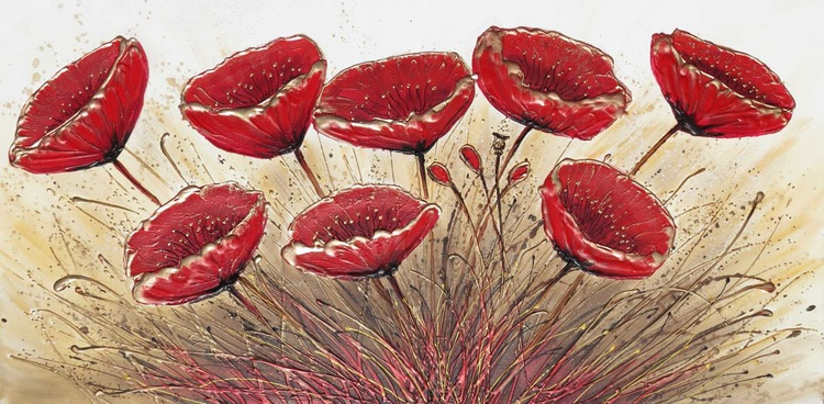 Big Red Poppies - Image 0
