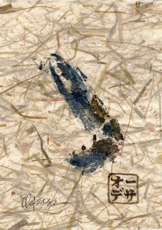 Blue Crab Claw (RIGHT CLAW ONLY) Gyotaku (Fish Rubbing) - Image 0