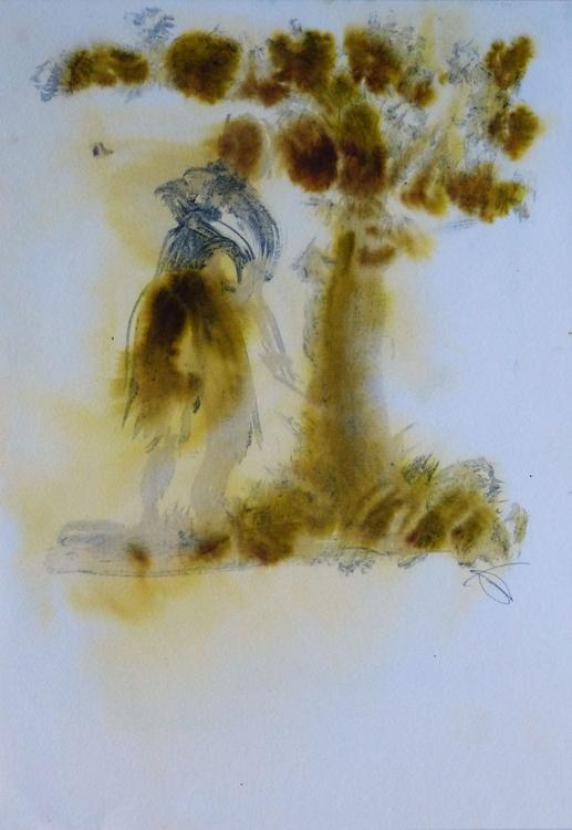 Burning Tree, 21x29 cm - Image 0