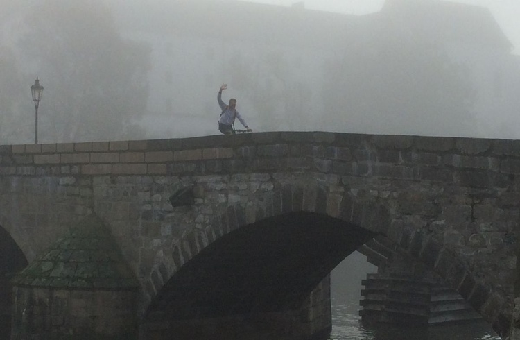 THE OLDEST BRIDGE (13th century) & THE MAN ON BIKE (21st century) - Image 0