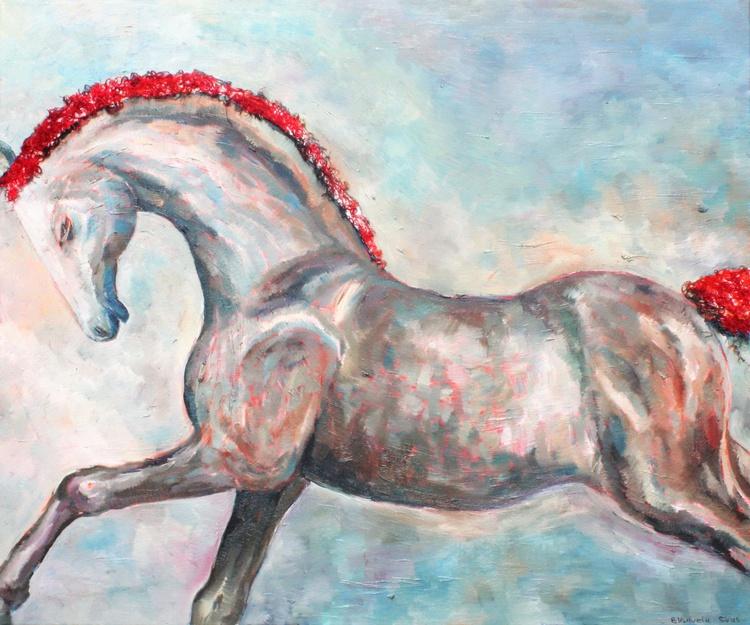 BROWN HORSE 39x47', 100x120 cm - Image 0