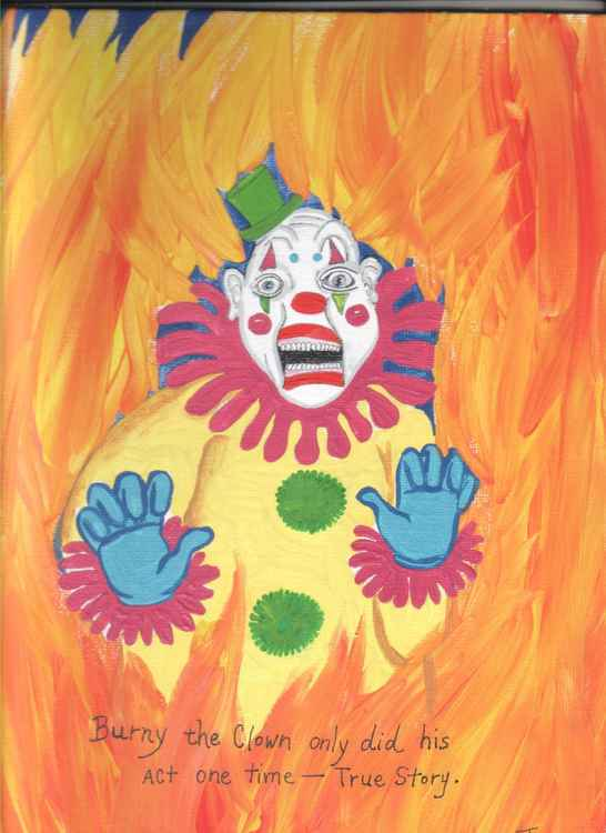 Burny the Clown Only Did His Act Once- True Story ►SOLD◄ -