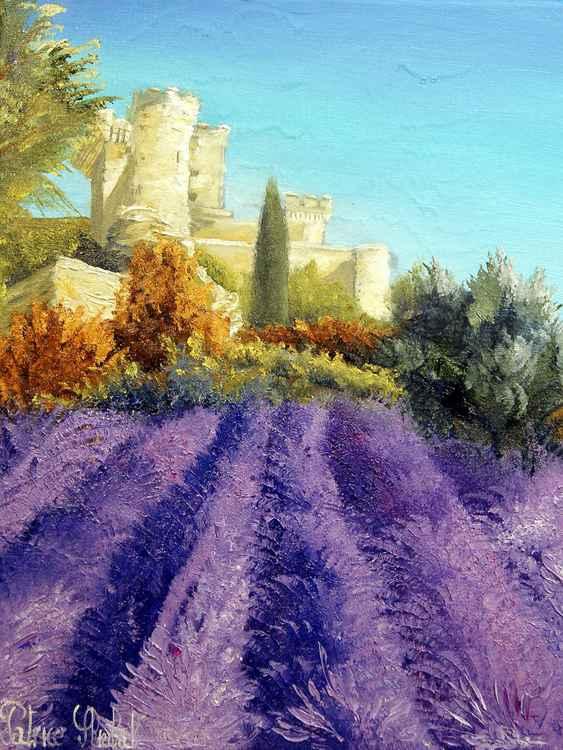 Lavande et château de la Barben