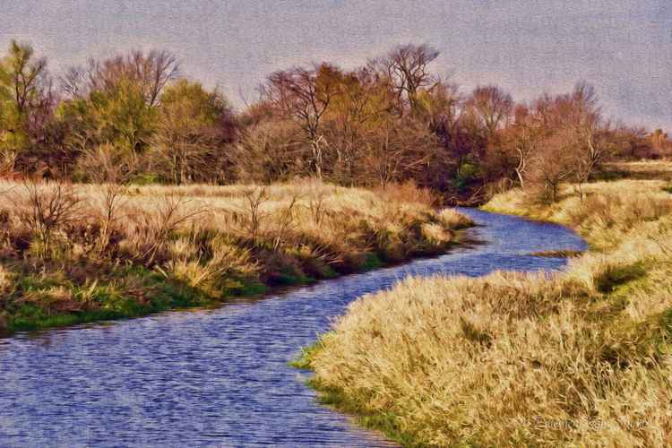 Prairie Stream on a Fall Afternoon -
