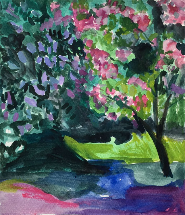 Lilac and Cherry Blossoms - Image 0