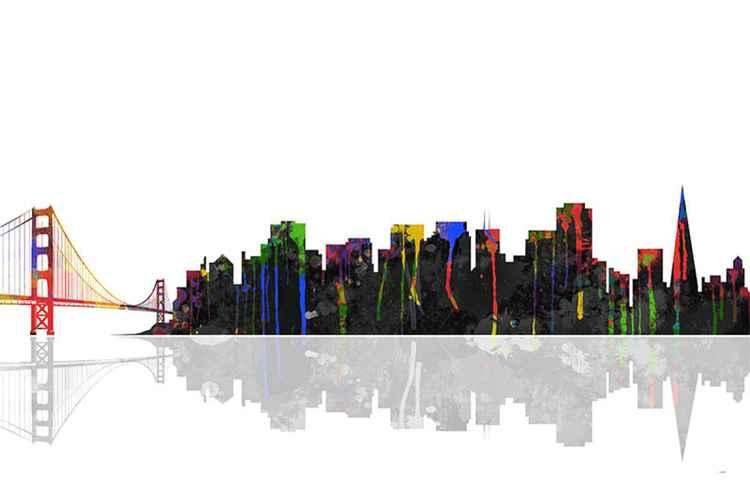 San Francisco Skyline BW1 -