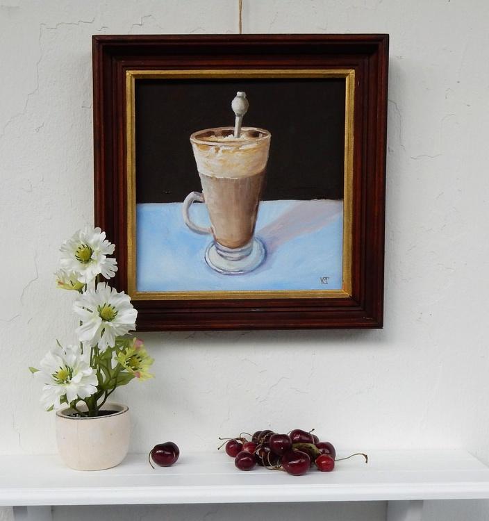Coffee latte. still life. 25x25cm. - Image 0