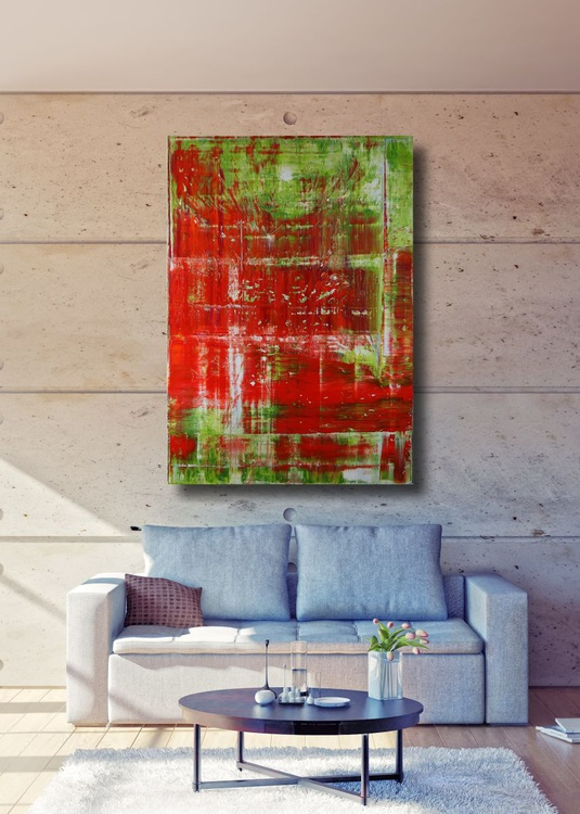 Abstract - green & red - Image 0