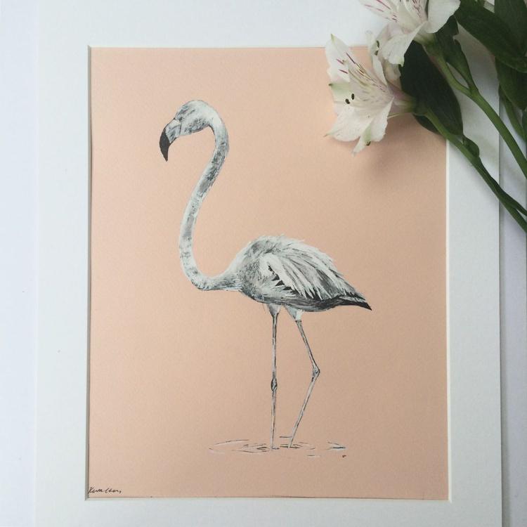 Flamingo, Original Pen & Ink - Image 0