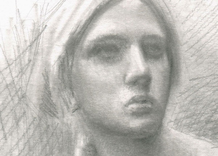 Joan of Arc Graphite Portrait Sketch Drawing - Image 0