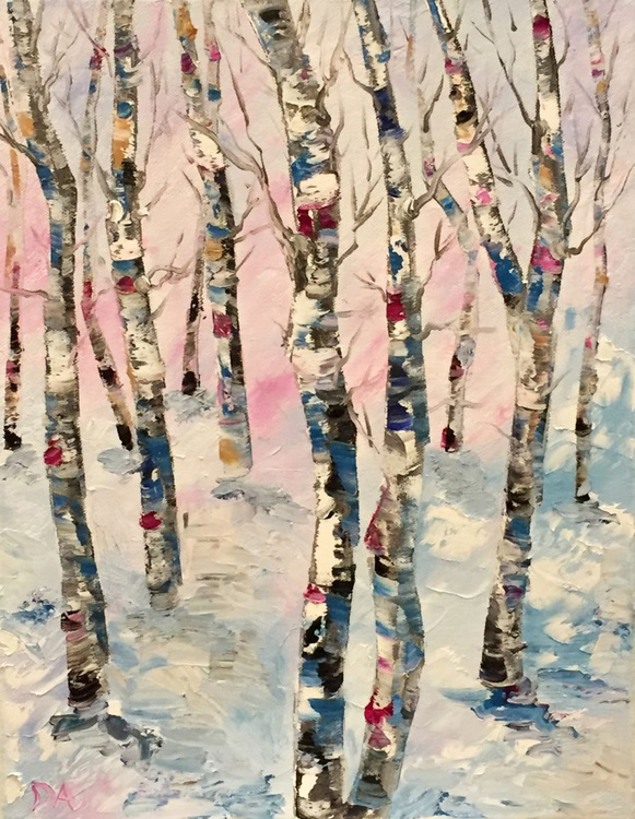 Birches and The Blue Winter - Image 0