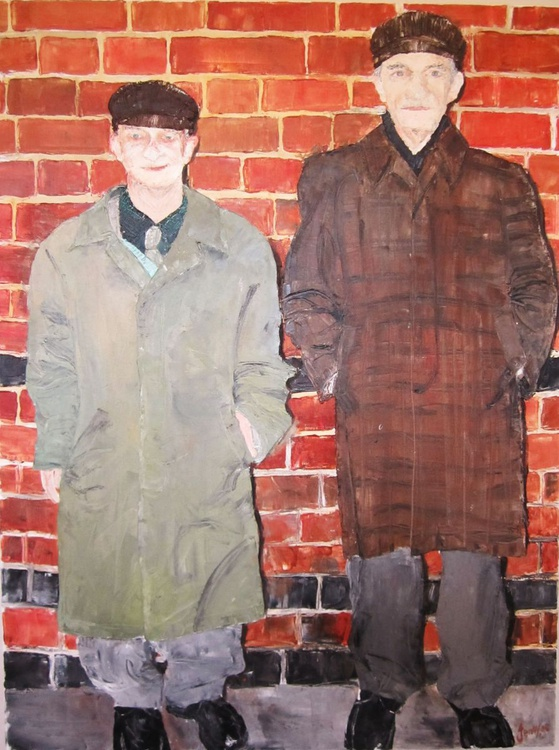 Brothers (very large oil on canvas) - Image 0