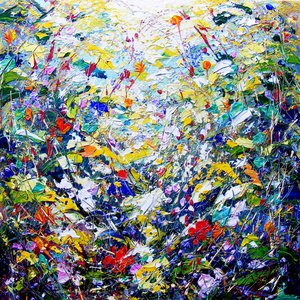 """Abstract, interior design, home decor, art - """"Flower Dance"""" by AAJ"""